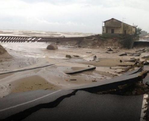 Le conseguenze di una delle alluvioni avvenute in Calabria.