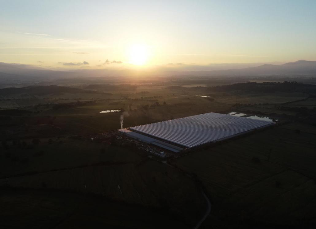 La serra avveniristica di Sfera Agricola, nella campagna vicino Grosseto. FOTO: Sfera Agricola.