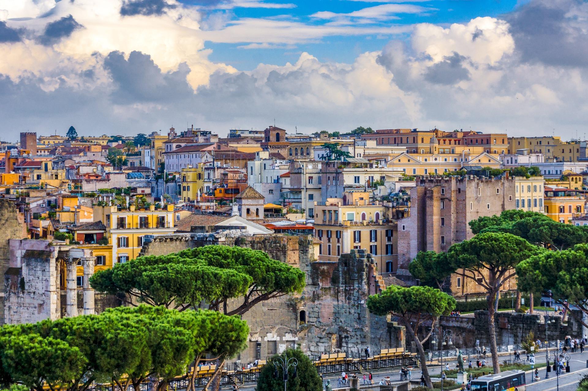 Roma è il comune italiano con il maggiore tasso di consumo di suolo secondo i dati ISPRA. FOTO: Kookay da Pixabay