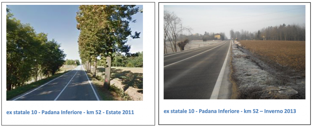 L'effetto delle norme anti-alberi a Castelnuovo Don Bosco (AT) FOTO: Salviamoilpaesaggio.