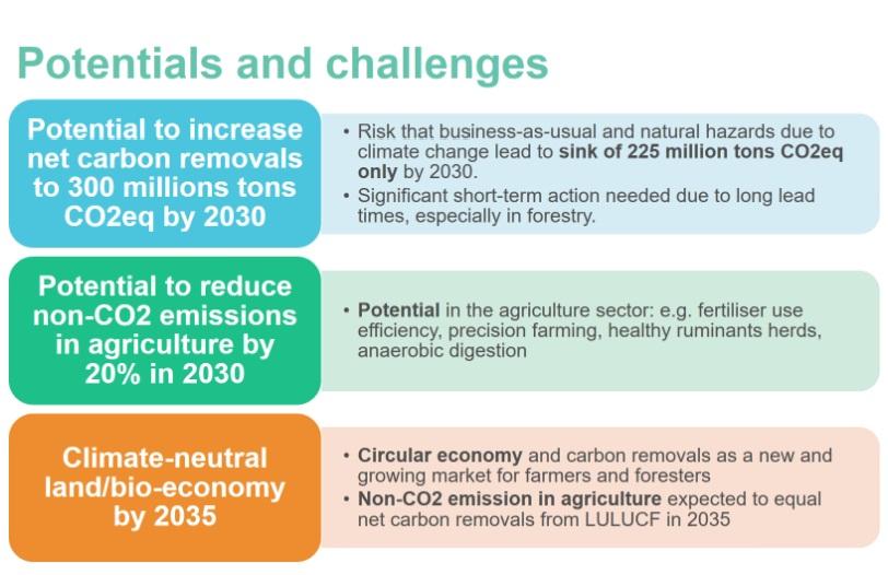 La bioeconomia e il carbon farming offrono importanti opportunità sulla strada verso la neutralità climatica. Immagine: József Iván, DGAgri, Bioeconomy For Soil Regeneration Webinar, 3 giugno 2021.