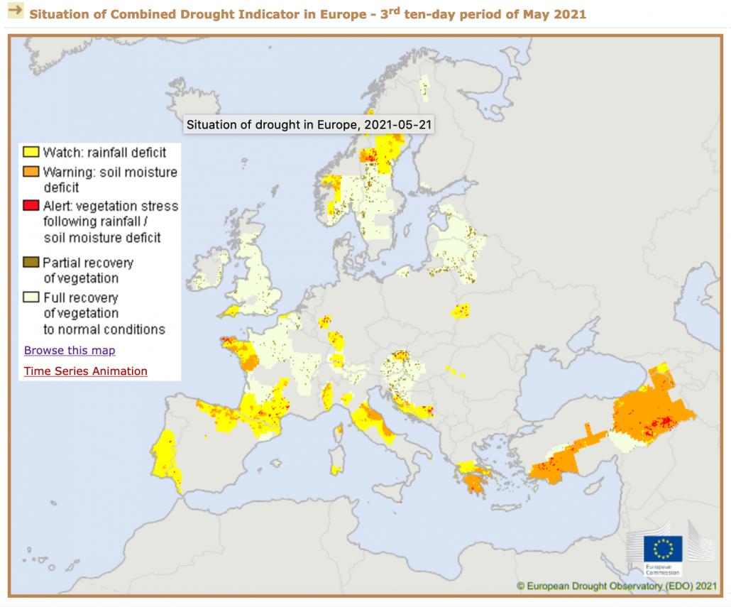 desertificazione siccità europa