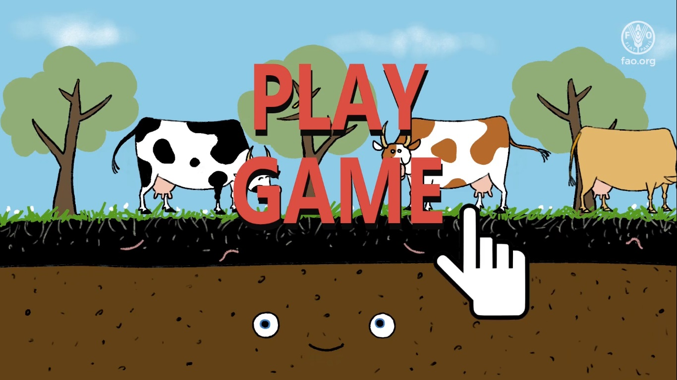 """FAO's """"Keep soil alive!"""" mission initiatives include educational videos on soil conservation. Image: FAO, Youtube"""