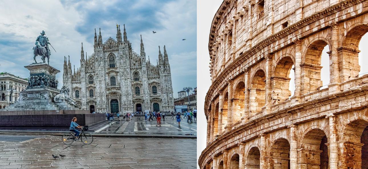 Milano Roma consumo suolo cementificazione