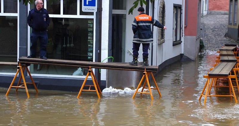 Una delle inondazioni che sempre più spesso colpiscono la città tedesca di Coblenza. FOTO: Stuart Tiffen via Flickr.