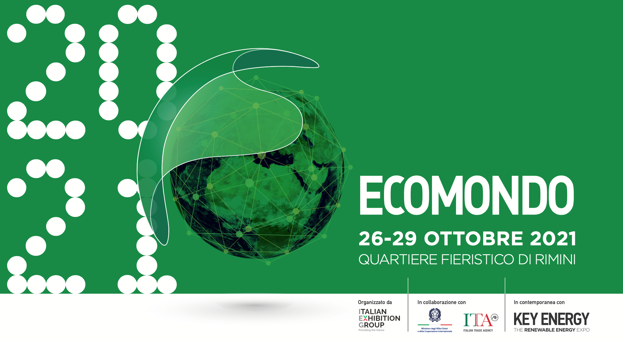 L'edizione 2021 di Ecomondo si terrà come di consueto a Rimini dal 26 al 29 ottobre.