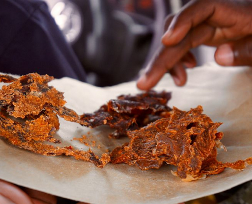 In Nigeria, the traditional method for producing Kilishi has proved highly unsustainable. Photo: Fatima Bukar Attribution-ShareAlike 4.0 International (CC BY-SA 4.0)
