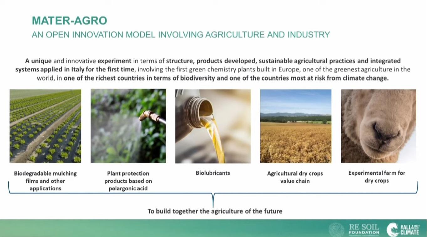 Teli di pacciamatura bioedegradabili e biolubrificanti sono alcuni dei prodotti sviluppati nell'ambito del progetto Mater-Agro. Immagine: Re Soil Foundation, All4Climate.